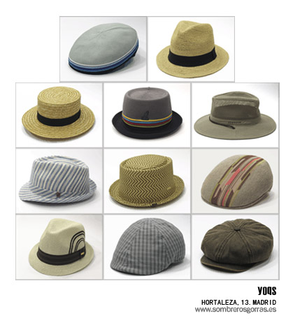 sombreros y gorras para verano 2011 de Sombreros Yoqs
