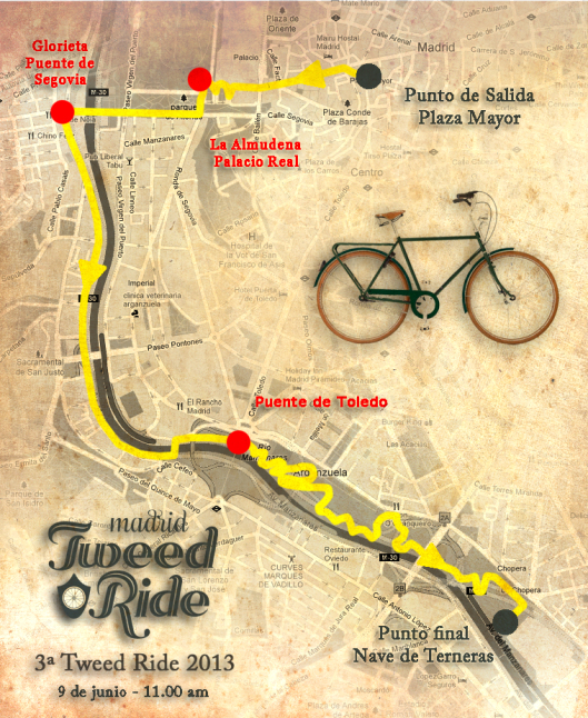 Ruta Tweed Ride 9 Junio 2013