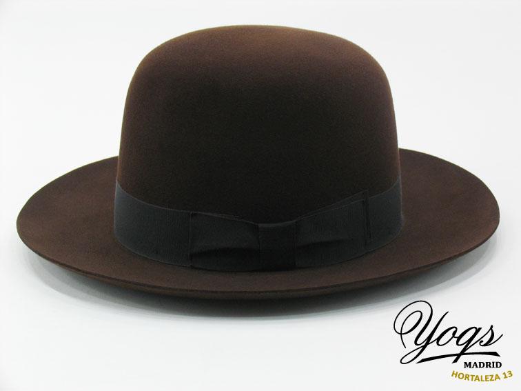 sombrero Aventurero fieltro castor copa abierta de Sombrerería Yoqs