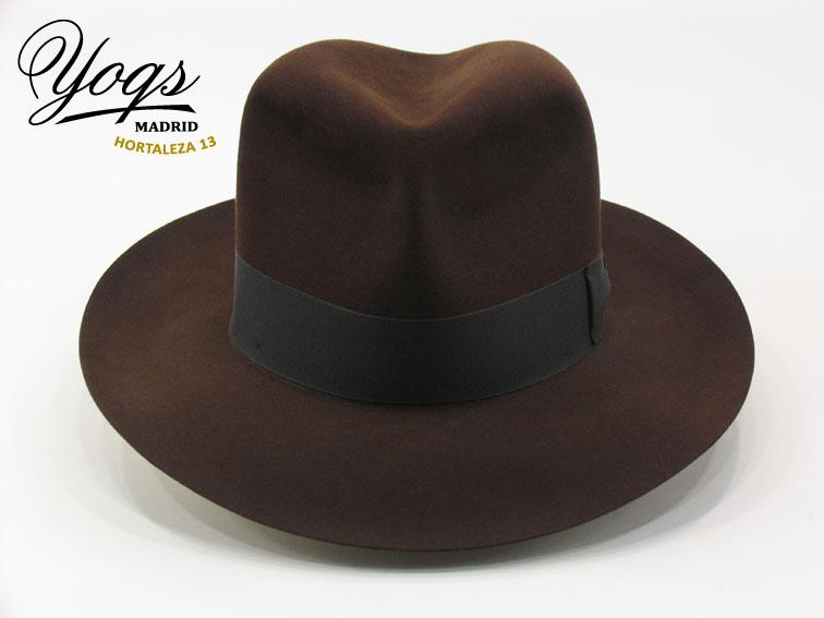 Sombrero Yoqs Aventurero de fieltro de castor 100%